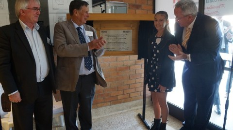 Min. Hazzard asked a member of our future generation to unveil the plaque