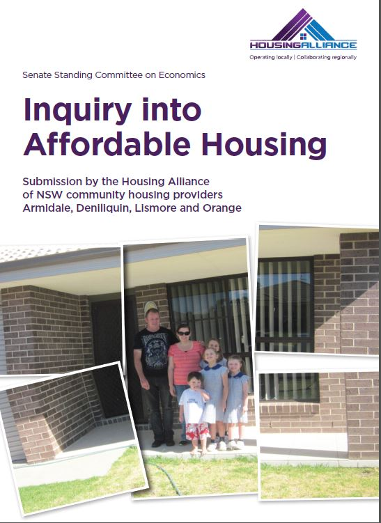 Cover for HA submission to Commonwealth Inquiry into Affordable Housing